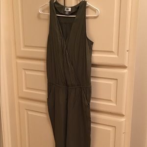 Small OLD NAVY Olive Romper/Jumpsuit